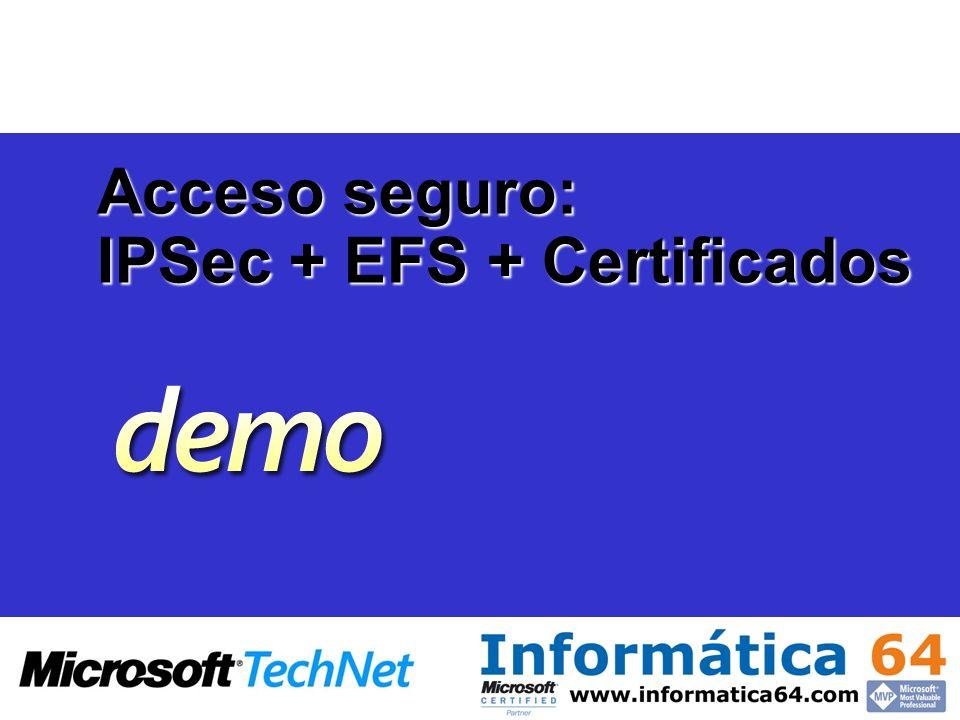 IPSec + EFS + Certificados