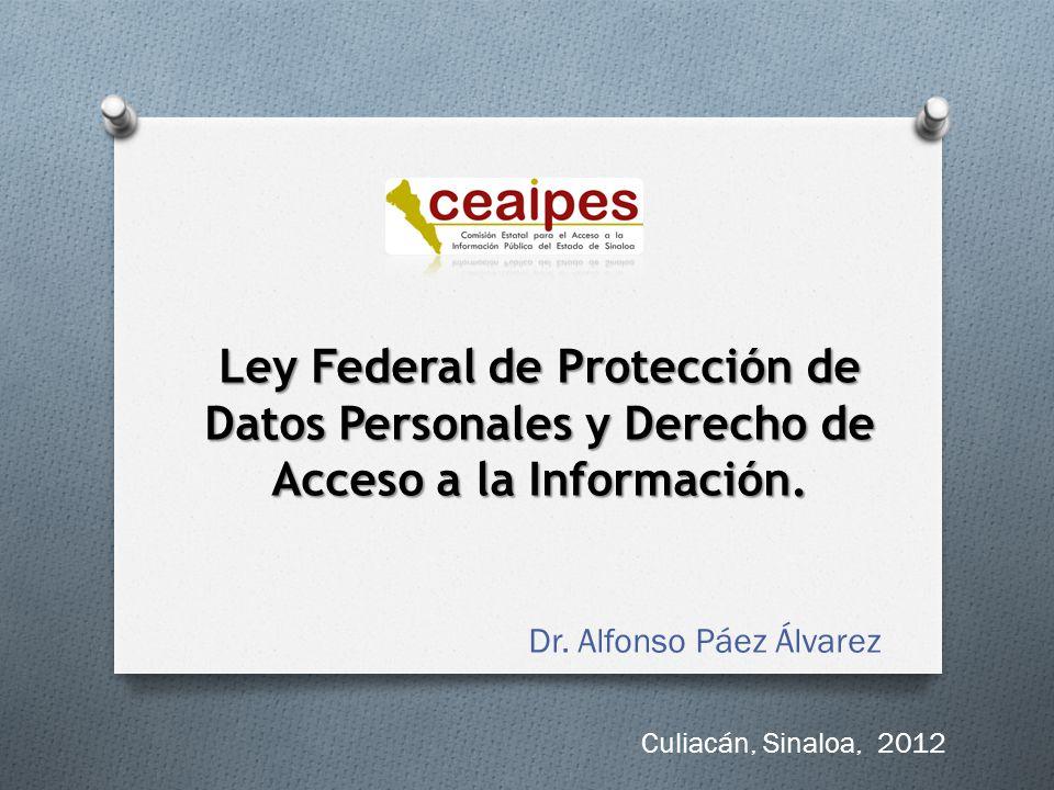 Ley Federal de Protección de Datos Personales y Derecho de Acceso a la Información.