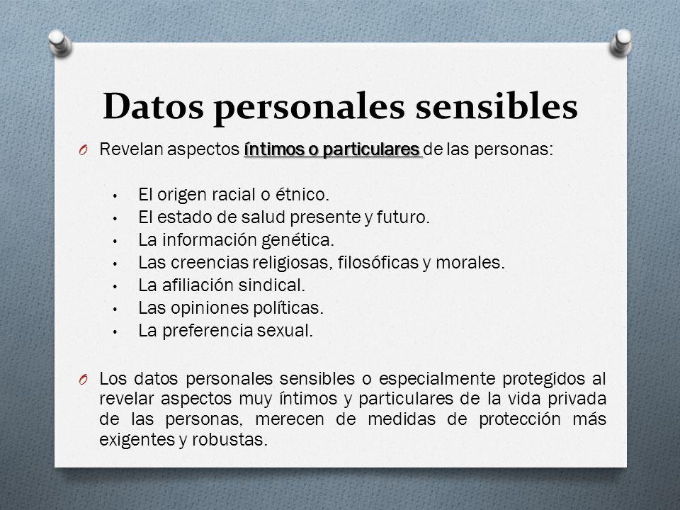 Datos personales sensibles