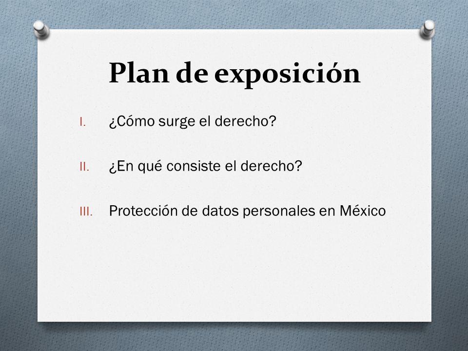 Plan de exposición ¿Cómo surge el derecho
