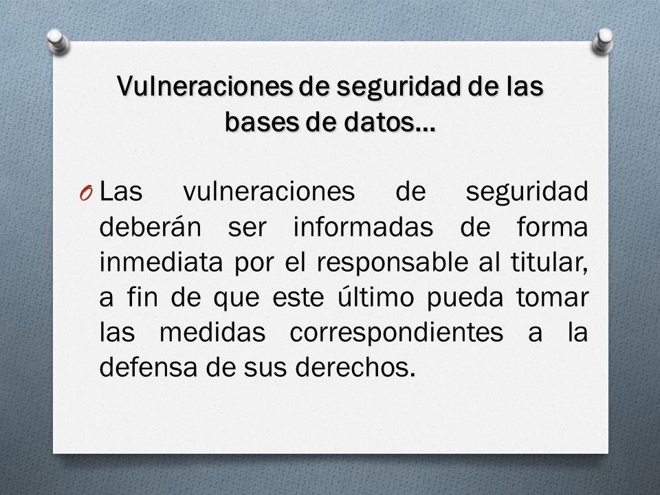 Vulneraciones de seguridad de las bases de datos…