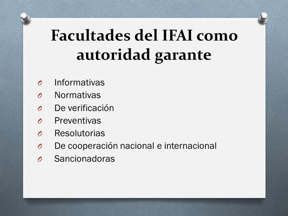 Facultades del IFAI como autoridad garante