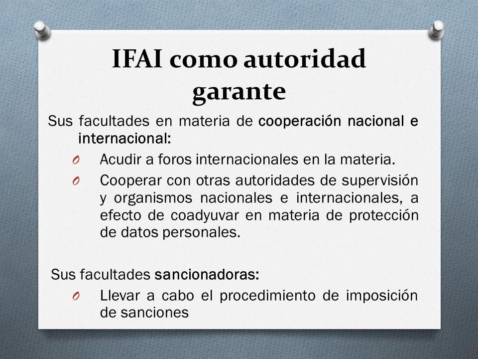 IFAI como autoridad garante