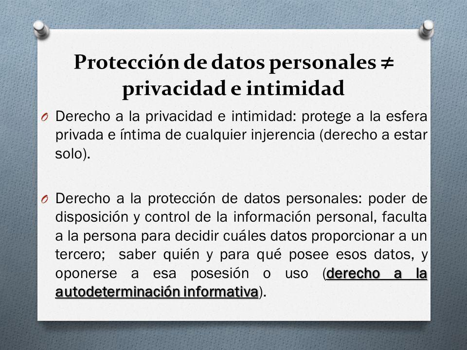 Protección de datos personales ≠ privacidad e intimidad