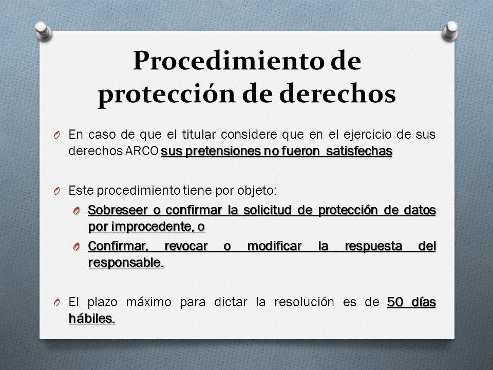 Procedimiento de protección de derechos
