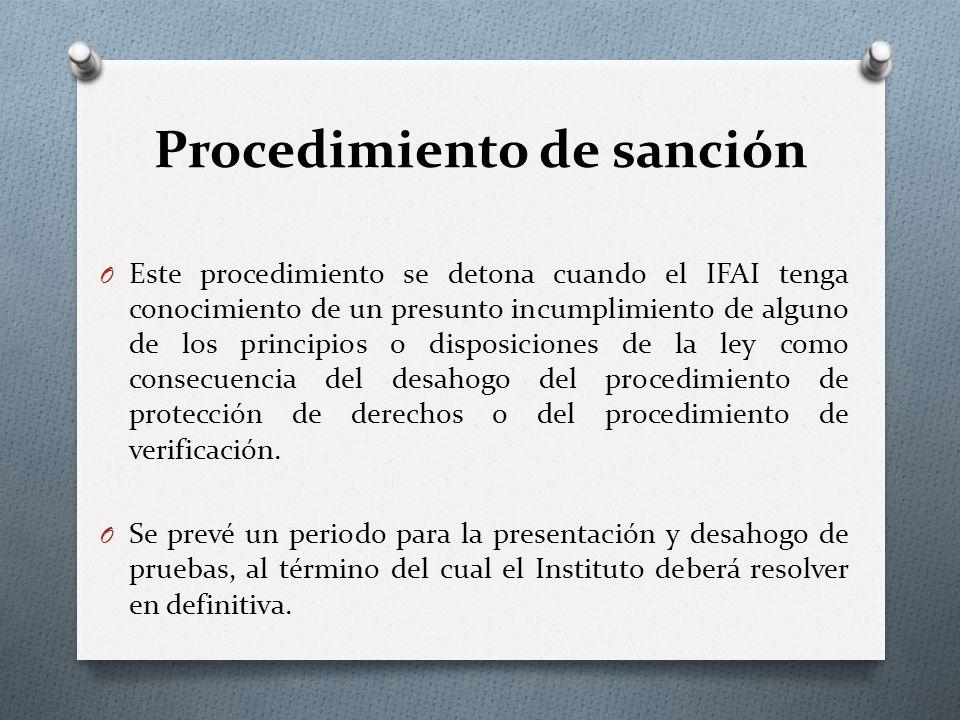 Procedimiento de sanción