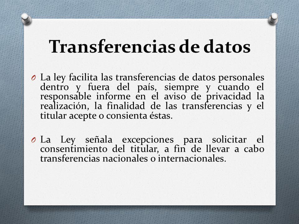 Transferencias de datos