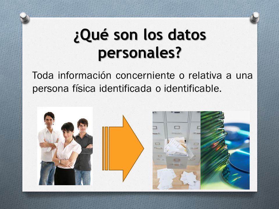 ¿Qué son los datos personales