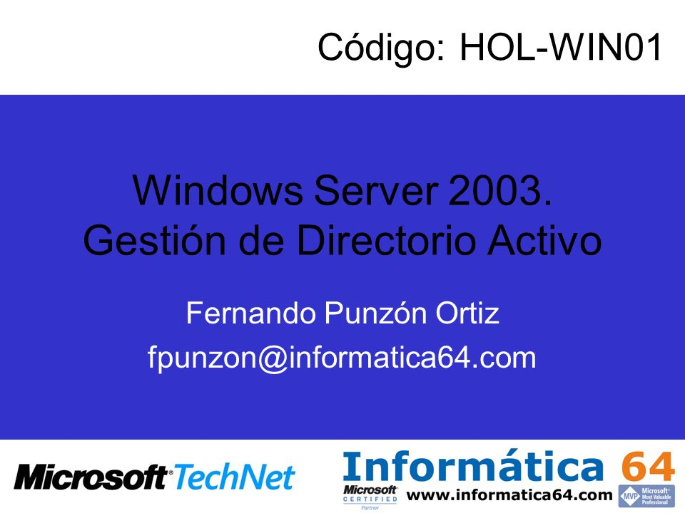 Windows Server 2003. Gestión de Directorio Activo