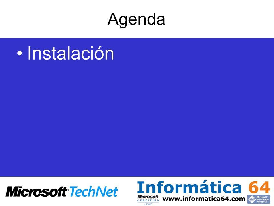 Agenda Instalación