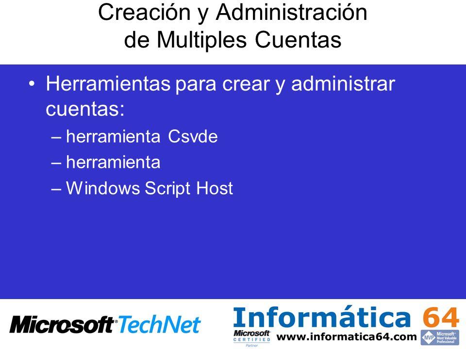 Creación y Administración de Multiples Cuentas