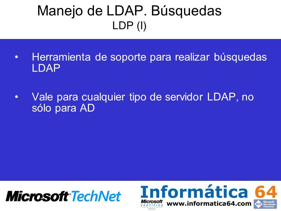Manejo de LDAP. Búsquedas LDP (I)