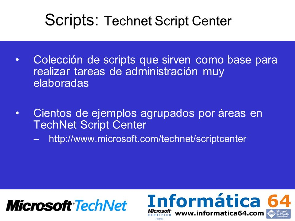 Scripts: Technet Script Center