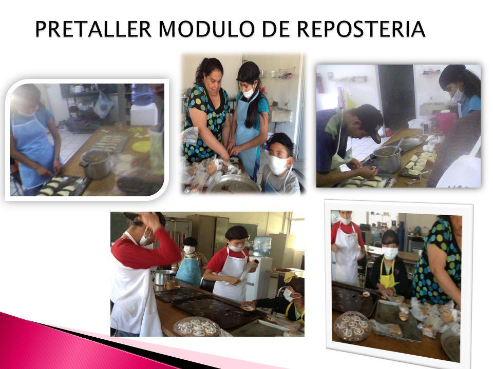 PRETALLER MODULO DE REPOSTERIA