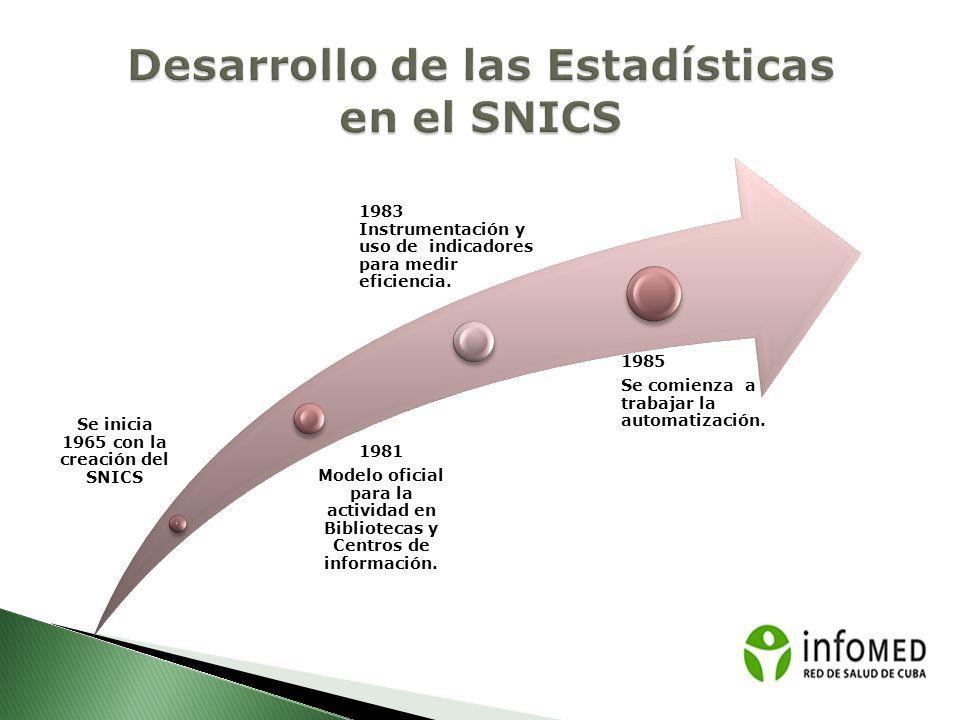Desarrollo de las Estadísticas en el SNICS