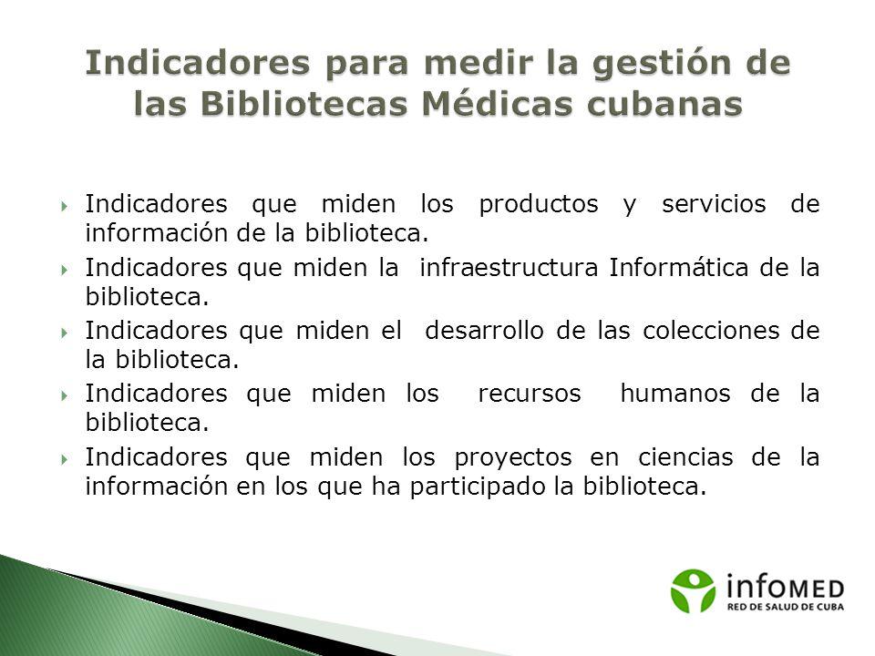 Indicadores para medir la gestión de las Bibliotecas Médicas cubanas