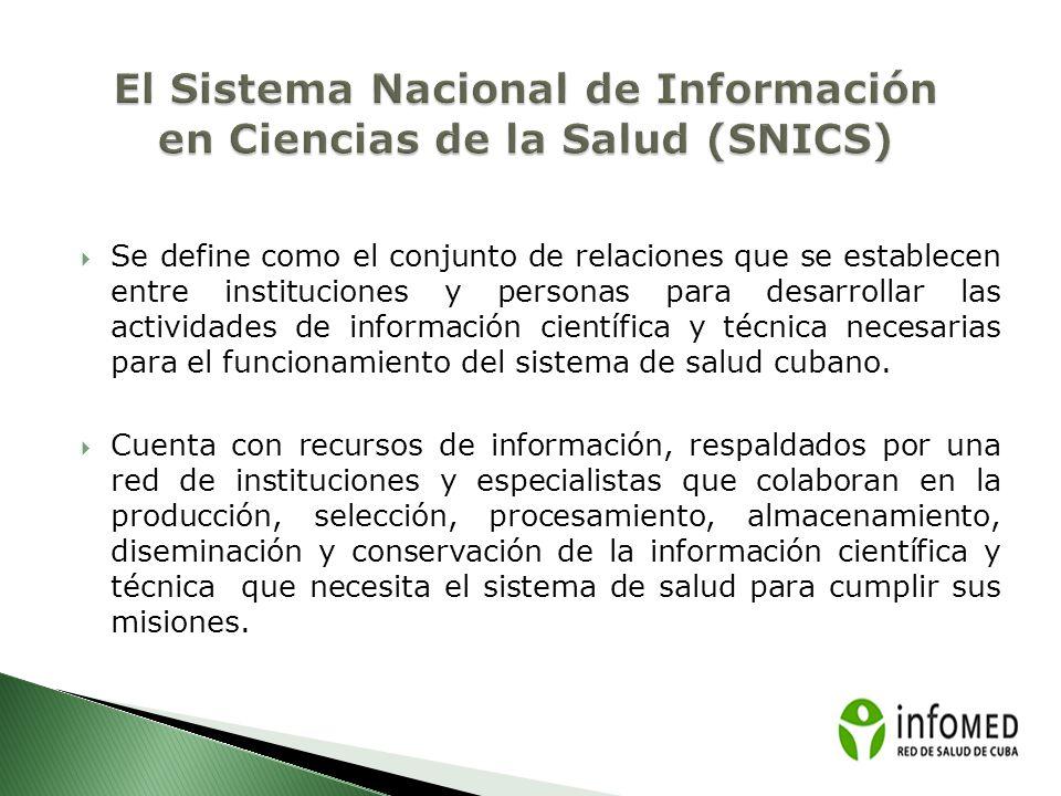 El Sistema Nacional de Información en Ciencias de la Salud (SNICS)