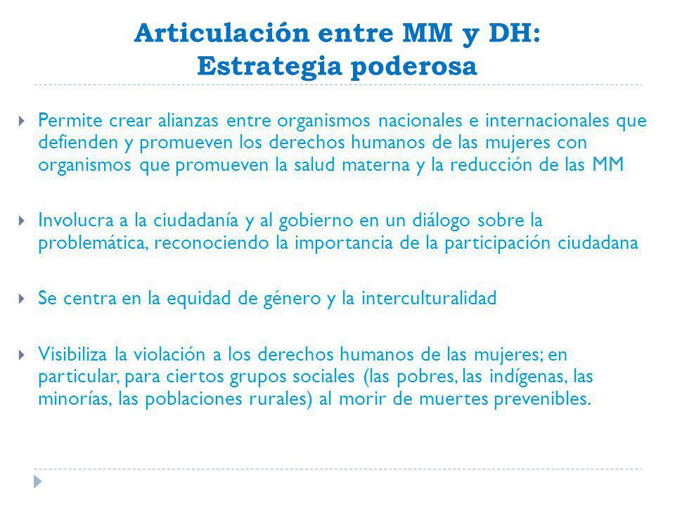 Articulación entre MM y DH: Estrategia poderosa