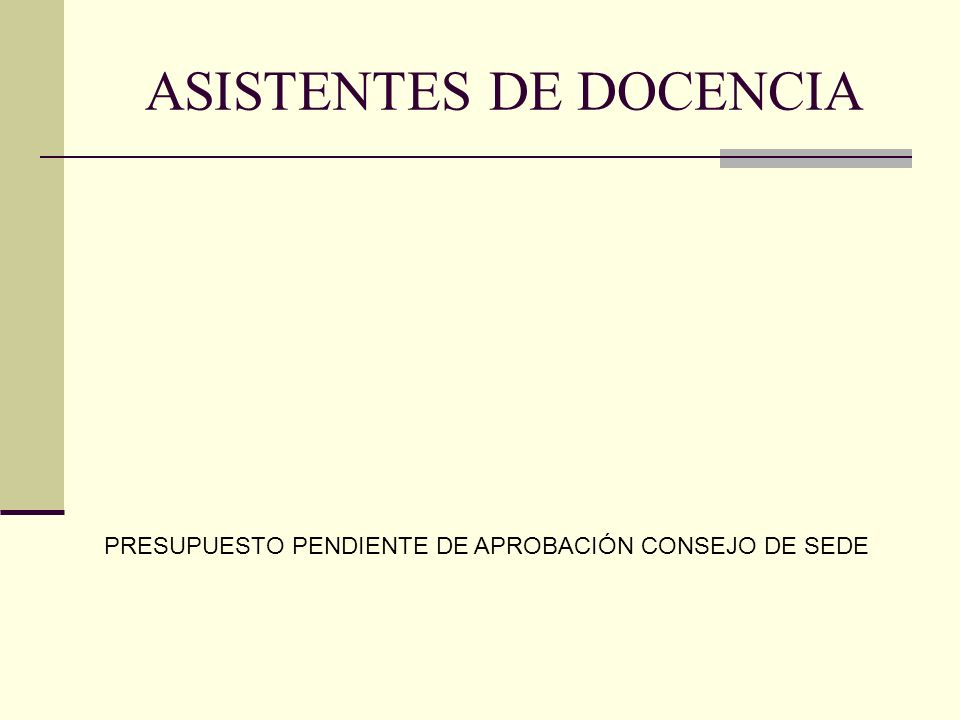 ASISTENTES DE DOCENCIA