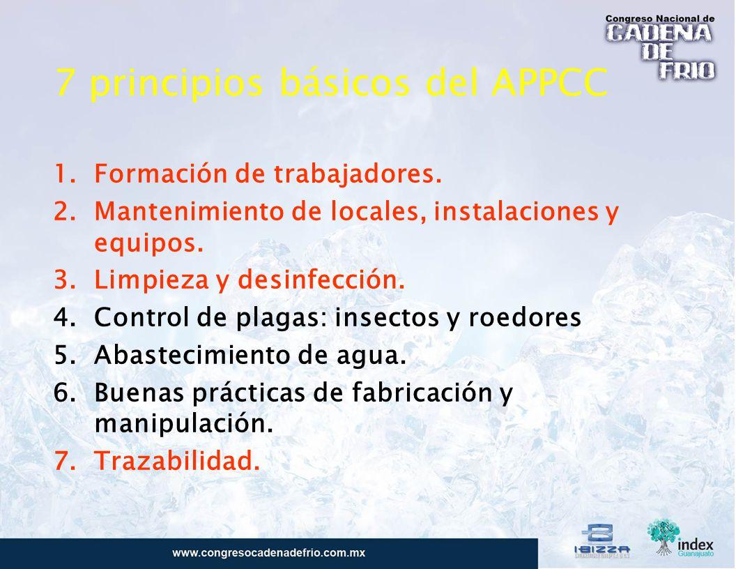 7 principios básicos del APPCC