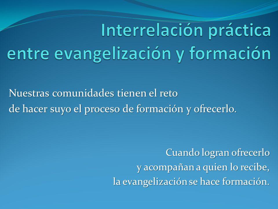 Interrelación práctica entre evangelización y formación