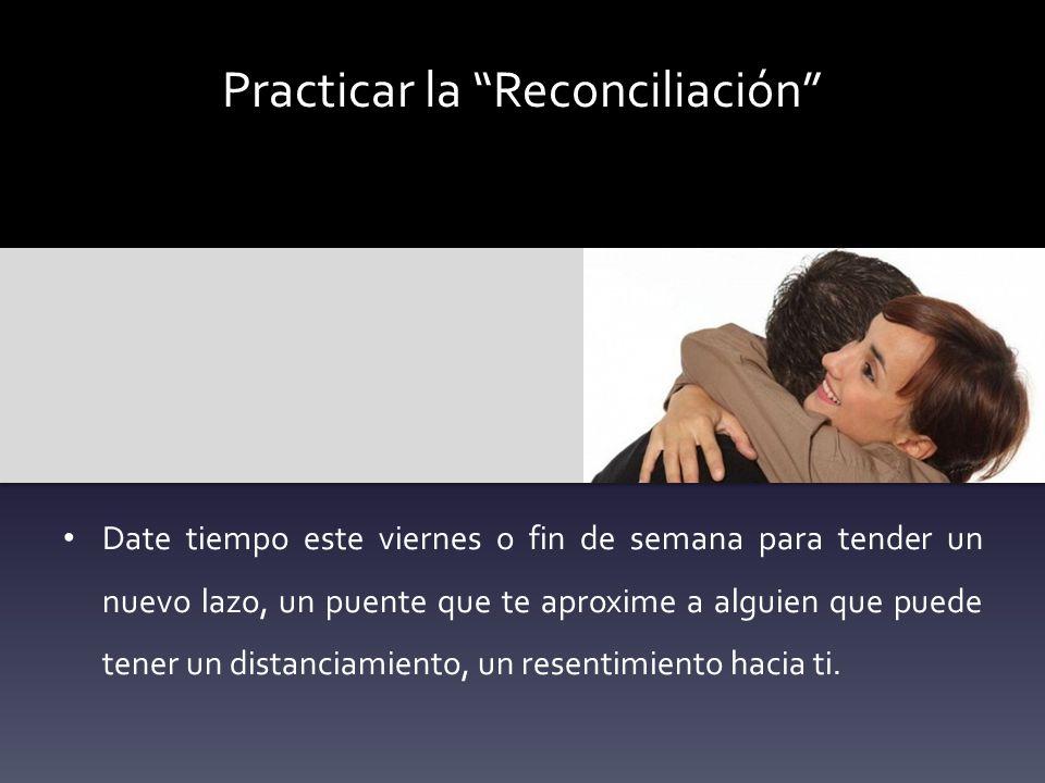 Practicar la Reconciliación