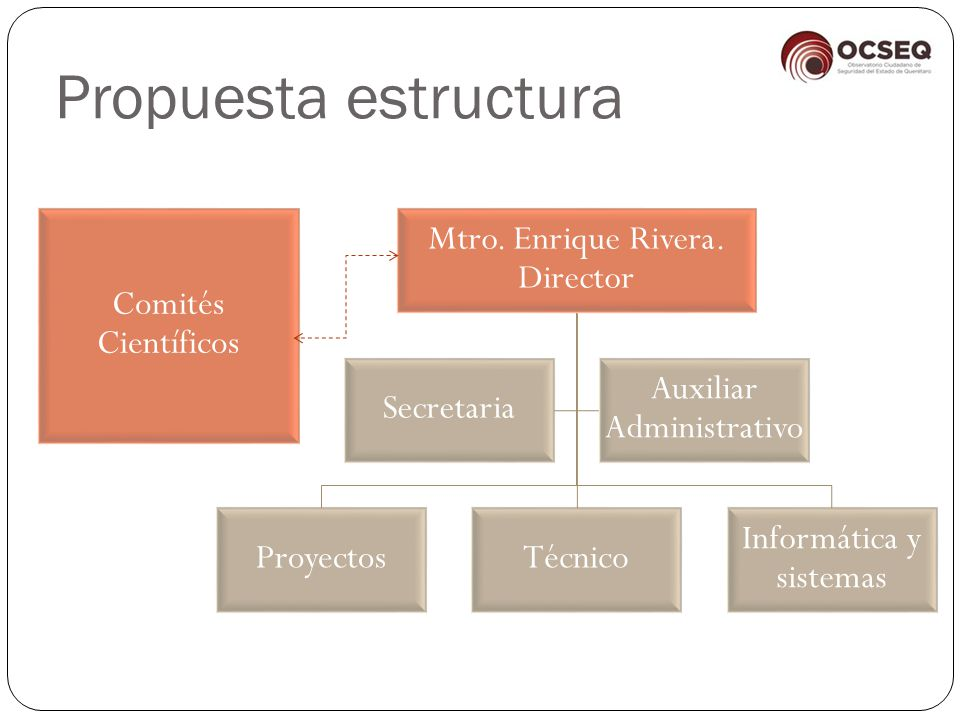 Propuesta estructura Comités Científicos