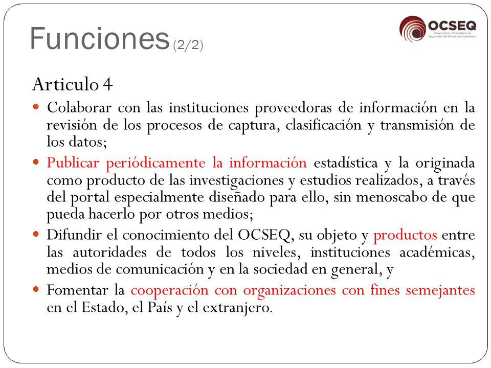 Funciones (2/2) Articulo 4