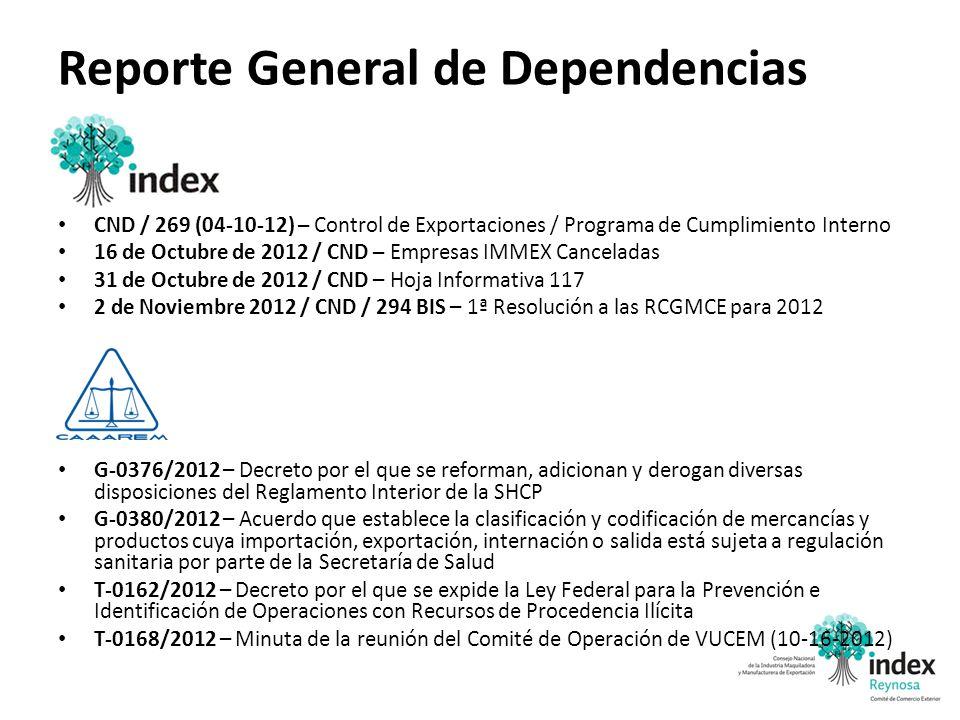 Reporte General de Dependencias