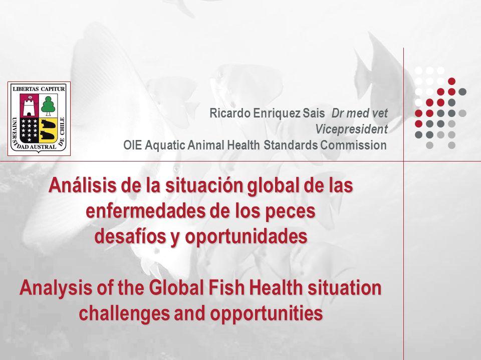 Análisis de la situación global de las enfermedades de los peces