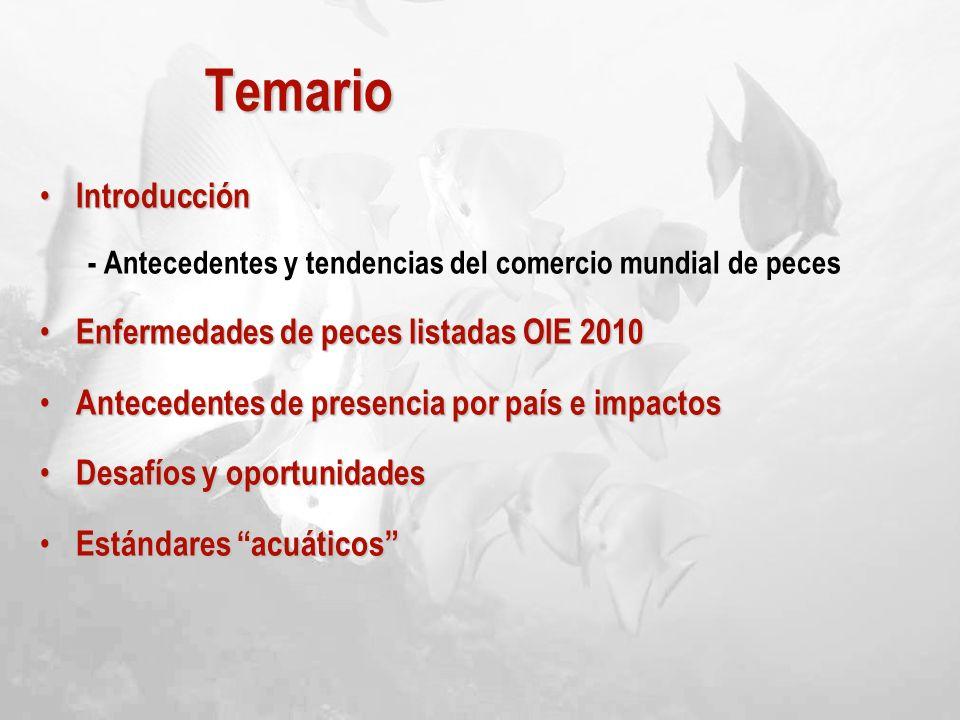 Temario Introducción Enfermedades de peces listadas OIE 2010
