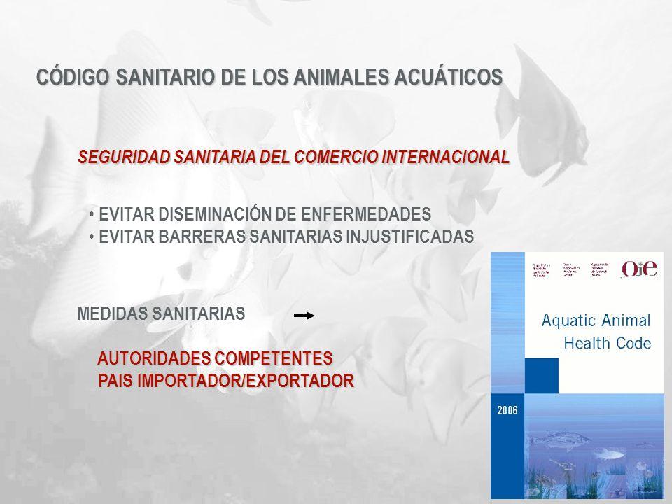 CÓDIGO SANITARIO DE LOS ANIMALES ACUÁTICOS