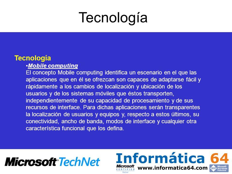 Tecnología Tecnología Mobile computing
