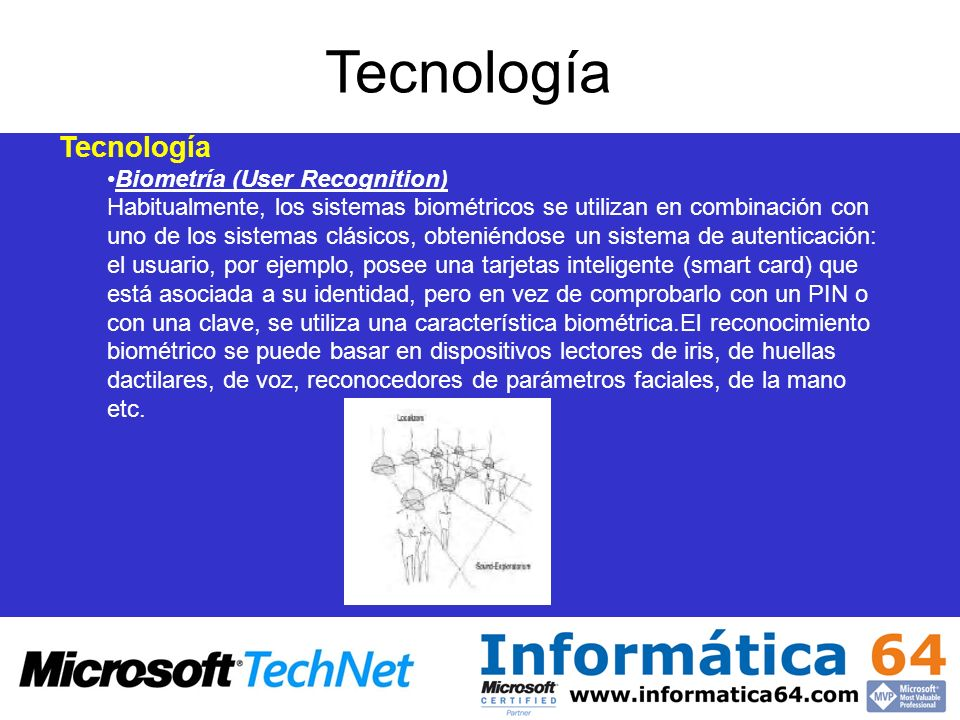 Tecnología Tecnología Biometría (User Recognition)