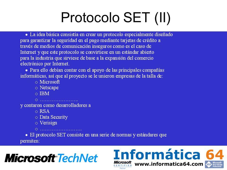 Protocolo SET (II)