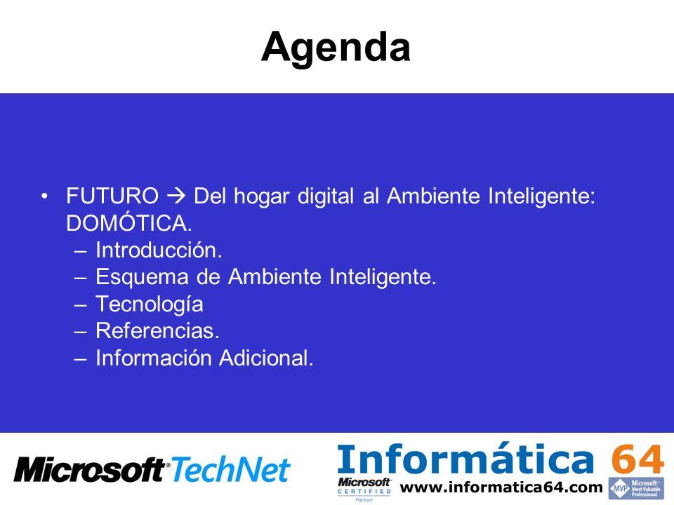 Agenda FUTURO  Del hogar digital al Ambiente Inteligente: DOMÓTICA.
