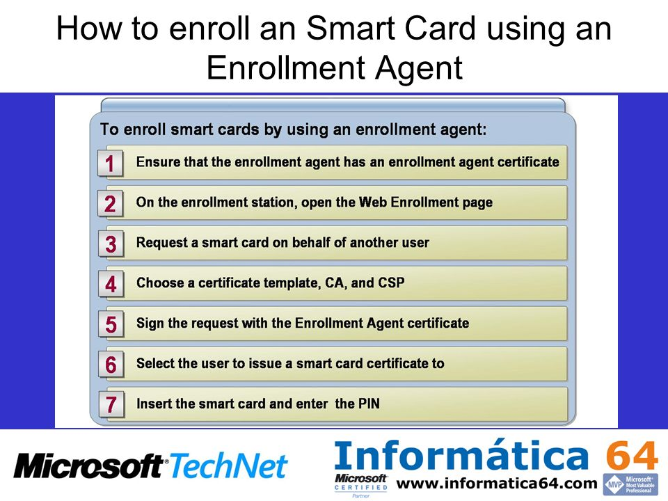How to enroll an Smart Card using an Enrollment Agent