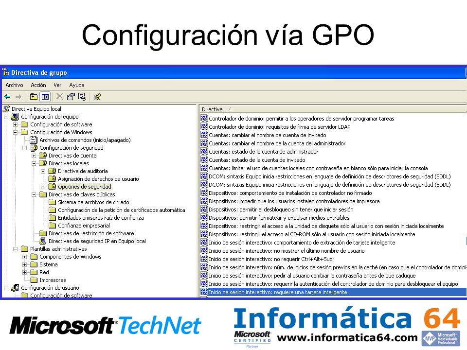 Configuración vía GPO