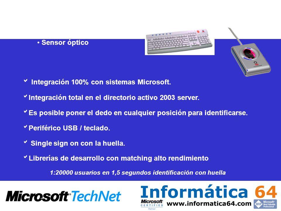  Integración 100% con sistemas Microsoft.
