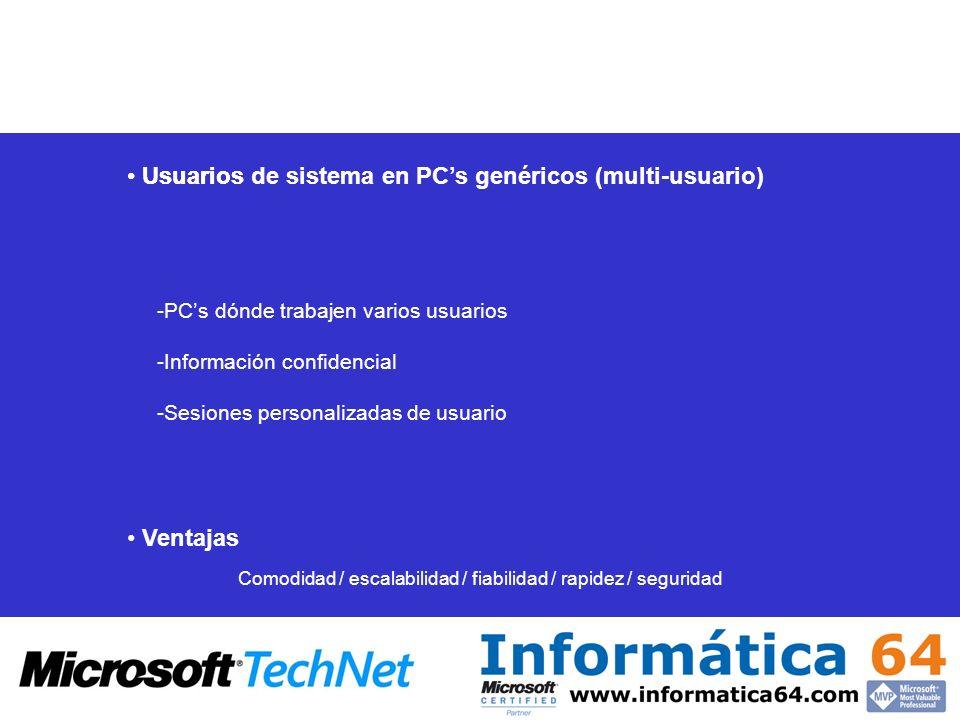 Comodidad / escalabilidad / fiabilidad / rapidez / seguridad