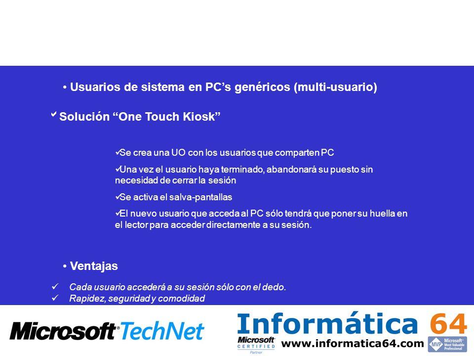 Usuarios de sistema en PC's genéricos (multi-usuario)