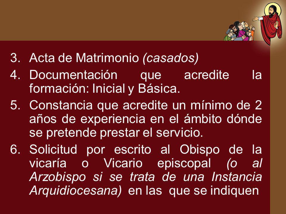 Acta de Matrimonio (casados)
