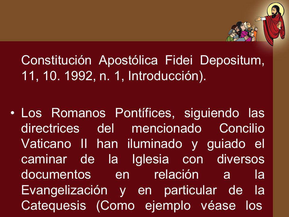 Constitución Apostólica Fidei Depositum, 11, 10. 1992, n