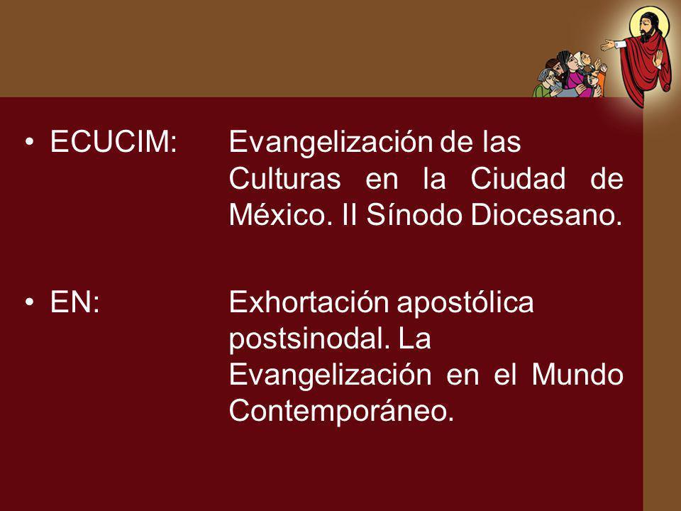 ECUCIM:. Evangelización de las. Culturas en la Ciudad de. México