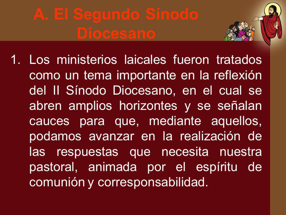 A. El Segundo Sínodo Diocesano