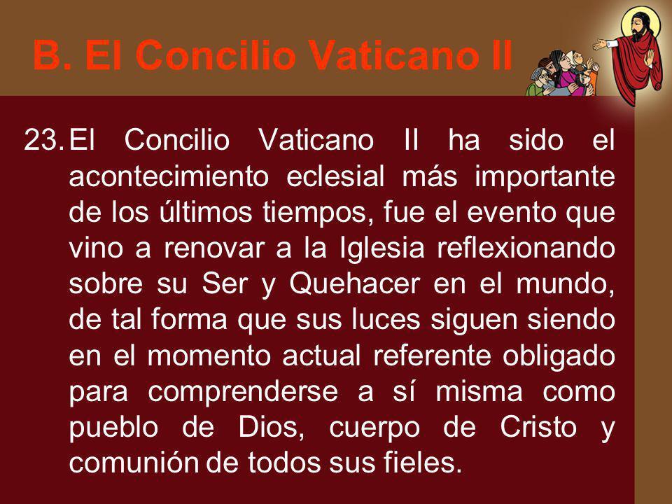 B. El Concilio Vaticano II