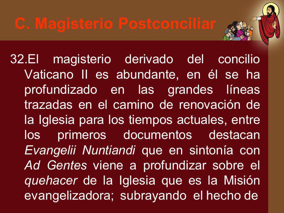 C. Magisterio Postconciliar