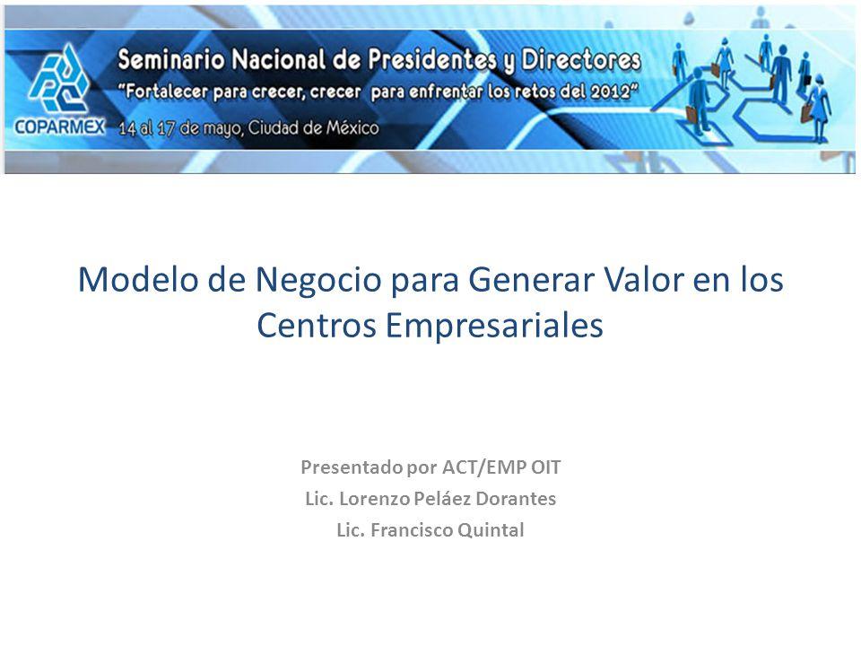 Modelo de Negocio para Generar Valor en los Centros Empresariales