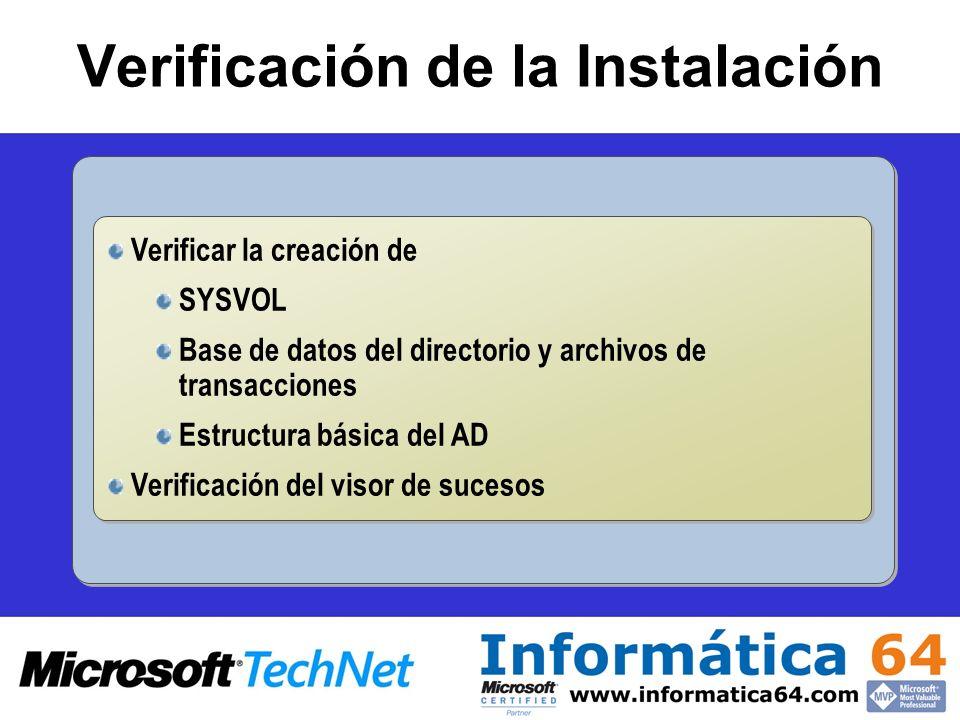 Verificación de la Instalación