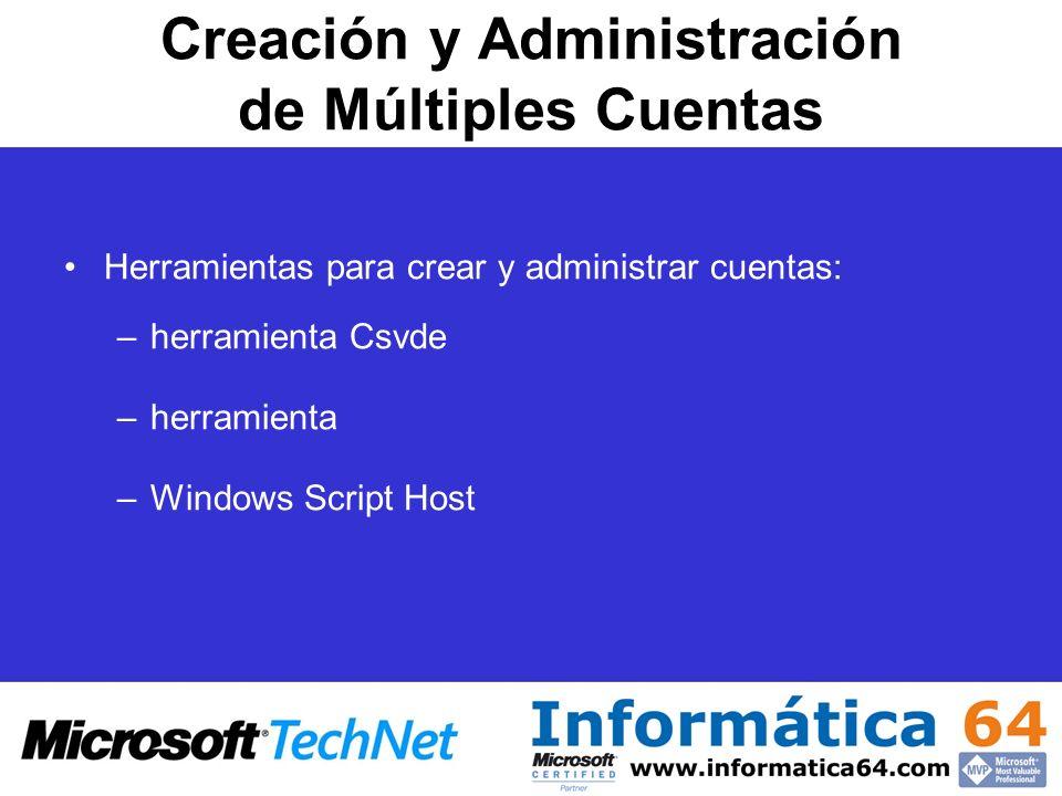 Creación y Administración de Múltiples Cuentas